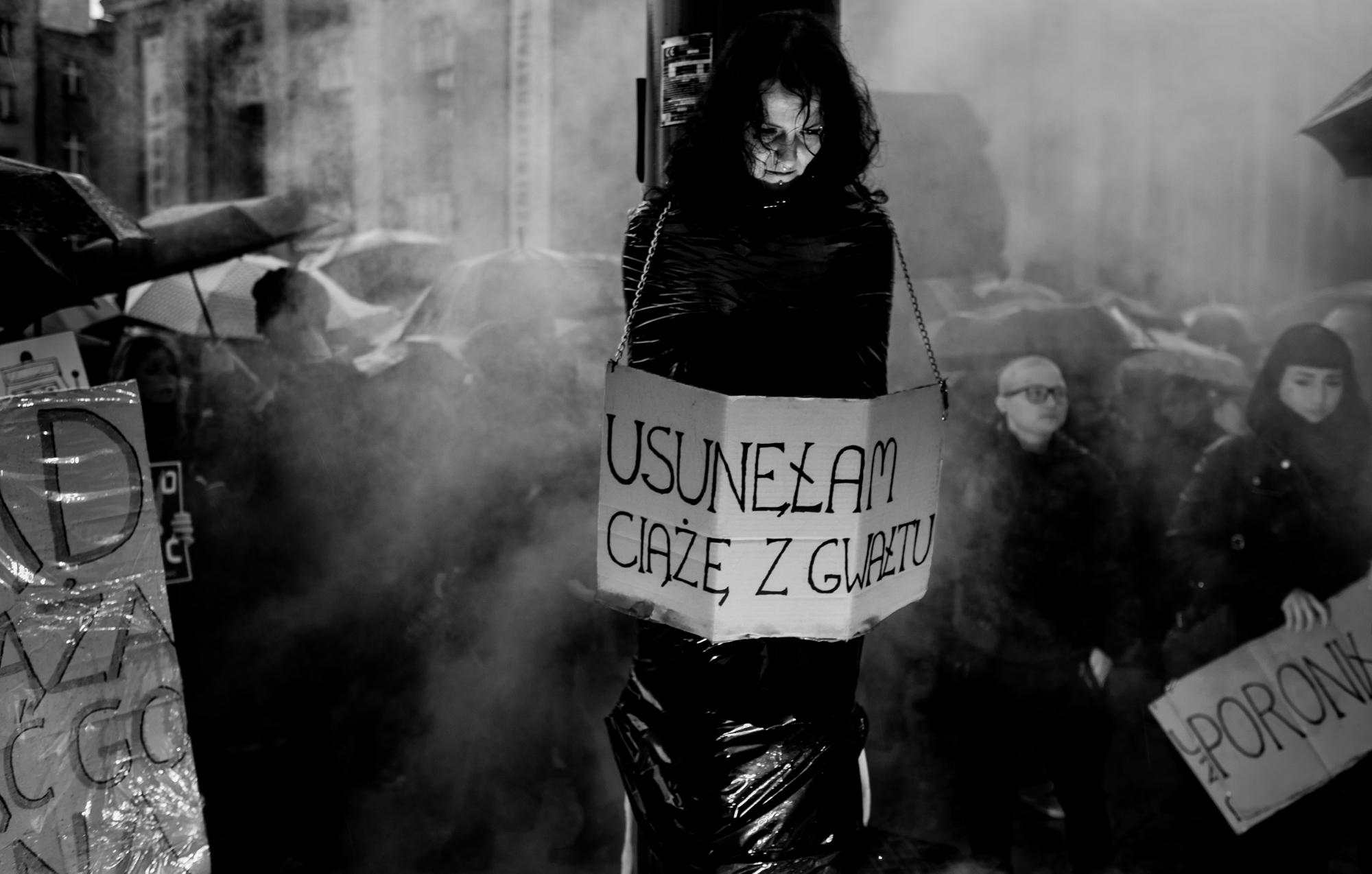 KATOWICE CZARNY PROTEST KOBIET