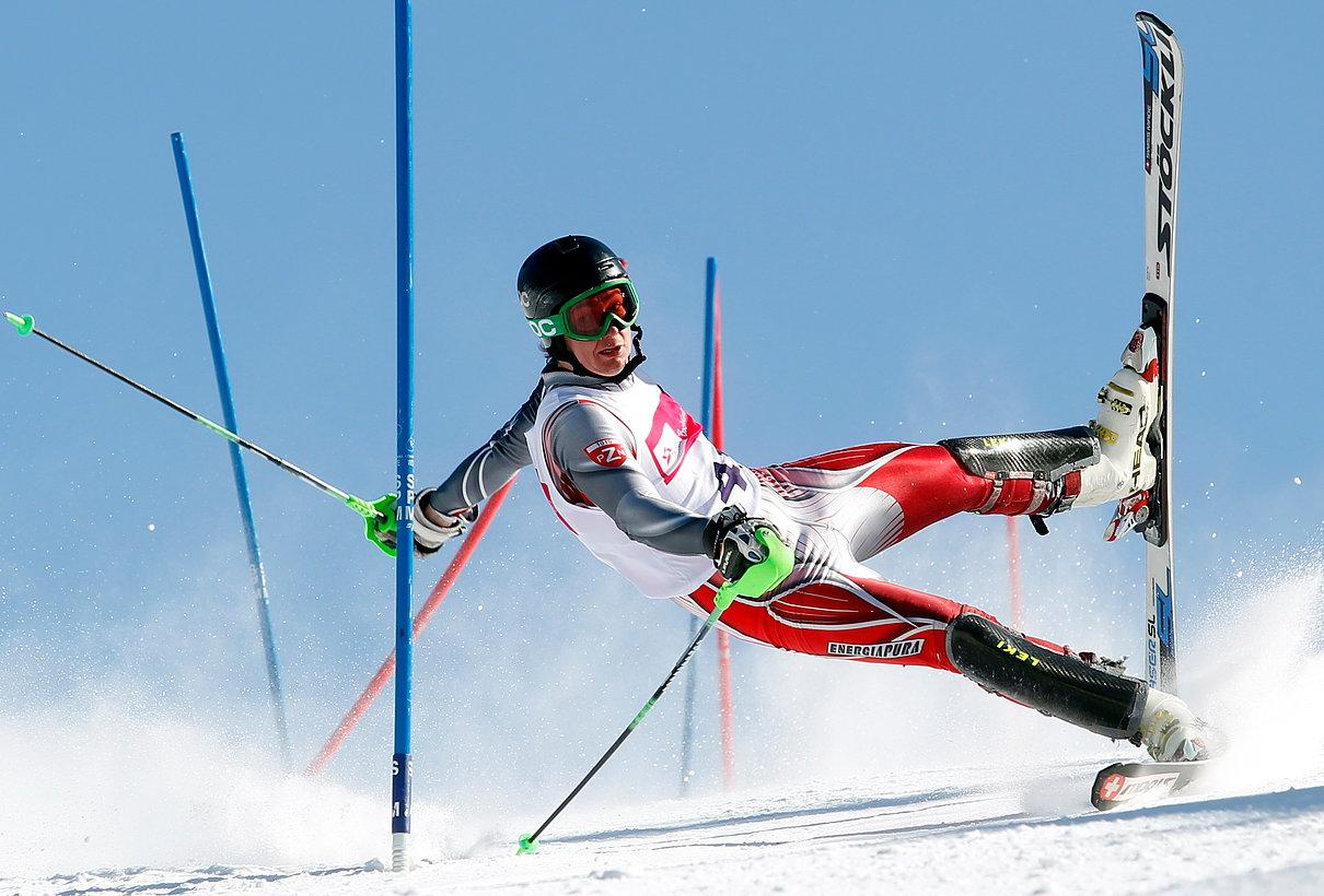 Szczyrk, 24.03.2013 na trasie slalomu podczas 80 Międzynarodowych Mistrzostw Polski w narciarstwie alpejskim w Szczyrku PAP/Andrzej Grygiel