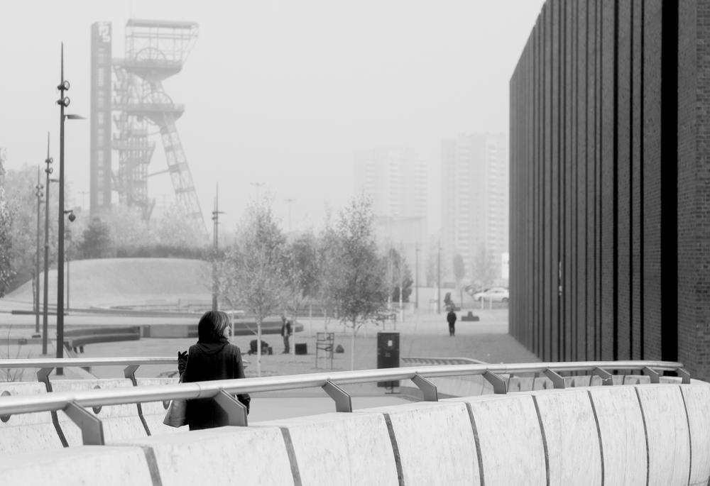 Katowice, 09.11.2016 Miasto było dziś inne, inaczej pachniało. I nie było całością. Składało się z małych wysp na zamglonym jeziorze. Sam nie wiem, czy chowało się czy wyłaniało przede mną.
